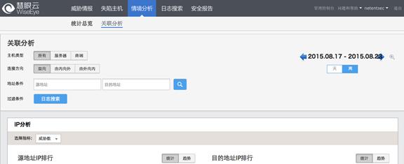源IP地址和目的IP地址排行